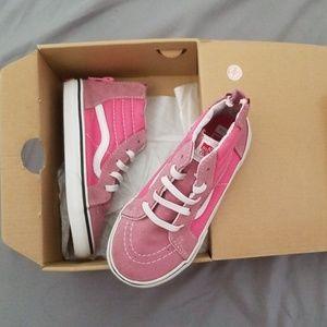 Vans Sk8-Hi zip hot pink